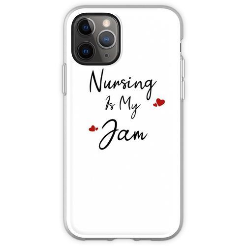 Krankenpflege ist mein Jam Krankenpflegeschule T-Shirt Krankenpfleg Flexible Hülle für iPhone 11 Pro