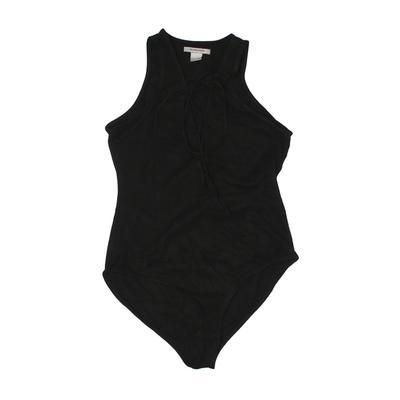 Glamorous Bodysuit: Black Solid ...