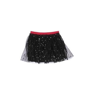 Holiday Time Skirt: Black Solid Skirts & Dresses - Size 4