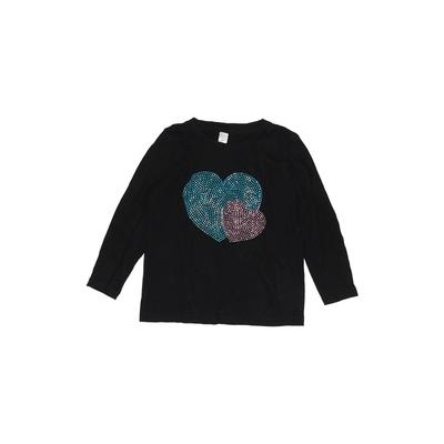 American Apparel - American Apparel Long Sleeve T-Shirt: Black Solid Tops - Size 4