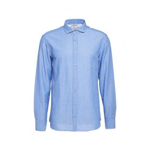 Bastoncino Herren Hemd mit Streifen Blau