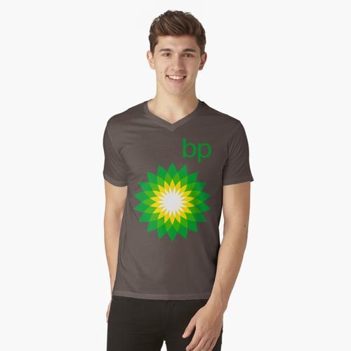 Oil Lubricant BP british petroleum cinolondioa t-shirt:vneck