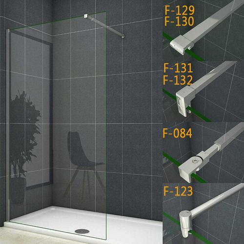 130x200cm walk in +90cm für 6-8mm Glas (F-129) Stabilisierungsstange