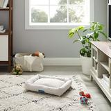 Sam's Pets Arlo Bolster Plaid Dog Bed, Brown, Medium
