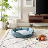 Sam's Pets Arthur Hexagon Dog Bed, Teal, Medium