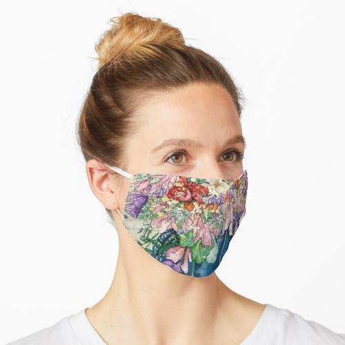 Vase mit Frühlingsblumen Maske