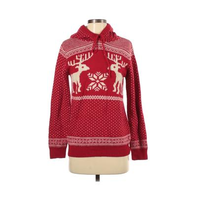 MERRY CHRISTMAS FROM V28 Pullover Hoodie: Red Tops - Size Small