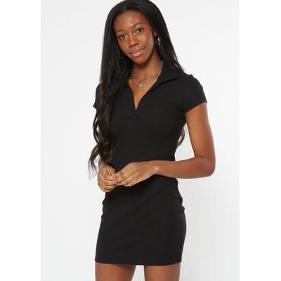 Rue21 Womens Black Polo Mini Dress - Size Xs