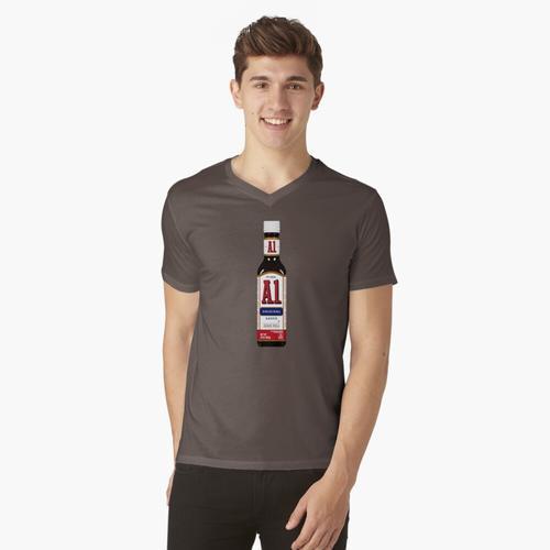 A1 Steak Sauce t-shirt:vneck