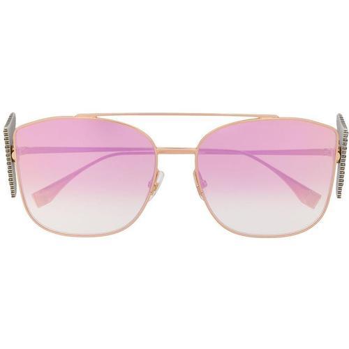 Fendi Sonnenbrille mit Kristallen