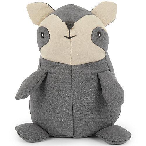 Baby Kuscheltier Spieltier aus Leinen & Musselin ca. 18cm Plüsch Schmusetier Bär Kuscheltiere grau