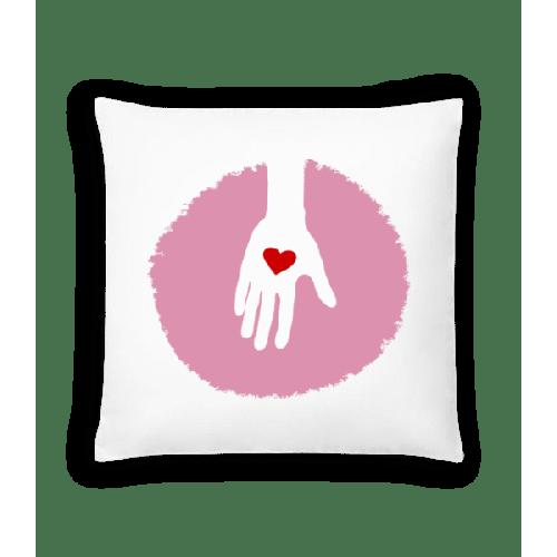 Hand Mit Herz - Kissen