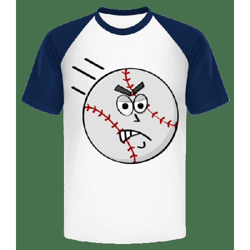 Baseball Smiley - Männer Baseball T-Shirt