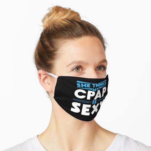 Sie denkt, mein CPAP sei sexy für schnarchende CPAP-Träger mit Schlafapnoe. Maske