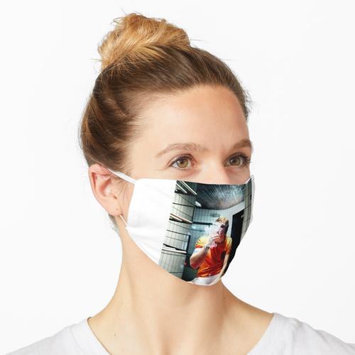 Johan Cruyff Ankleidezimmer Zigarette Maske