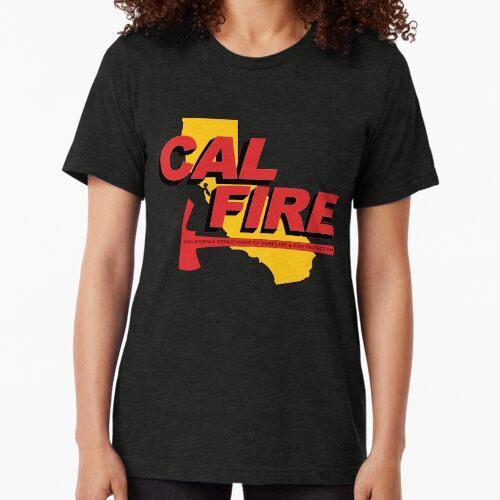 CAL FIRE - Rote Pulaski-Axt Vintage T-Shirt
