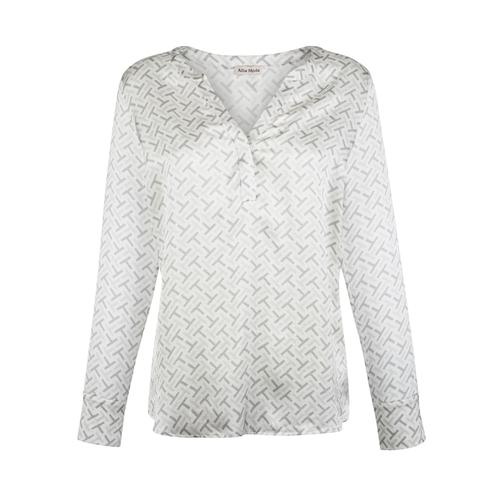 Bluse Alba Moda Creme-Weiß