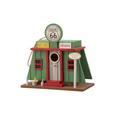 Glitzhome Wooden Truck-Shop Bird House, 9.45-in