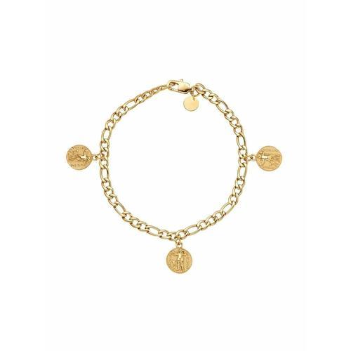 Armband für Damen, Edelstahl, Münze Noelani Gold