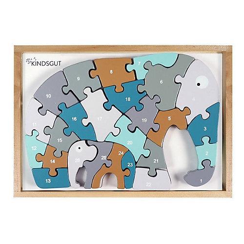 Buchstaben-Puzzle Elefant Puzzle