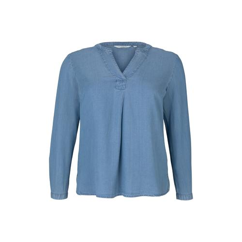 TOM TAILOR MY TRUE ME Damen Lyocell Jeansbluse, blau, Gr.54