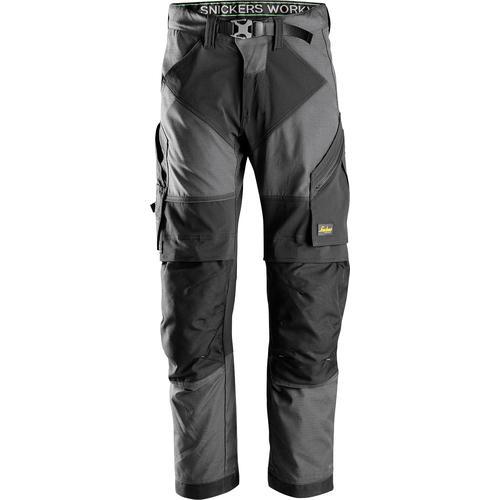 Snickers Workwear Arbeitshose FlexiWork, Gr. 48 - 56 grau Herren Arbeitshosen Arbeits- Berufsbekleidung