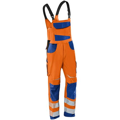 Kübler Arbeitslatzhose REFLECTIQ, S2, mit Knieschutz orange Herren Latzhosen Arbeitshosen Arbeits- Berufsbekleidung
