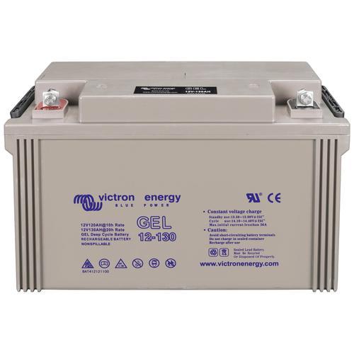 Sunset Solarakkus Solar-Gel-Batterie 130 Ah, 130000 mAh, 12 V, Zum Anschluss von Solarmodulen und Stromsets grau Solartechnik Bauen Renovieren