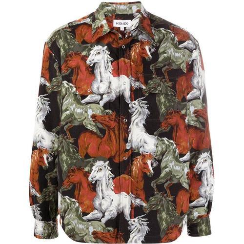 KENZO Hemd mit Pferde-Print