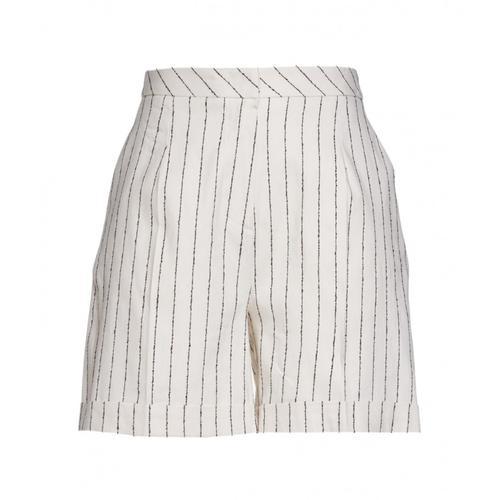 Kaos Damen Shorts mit Streifen Weiß