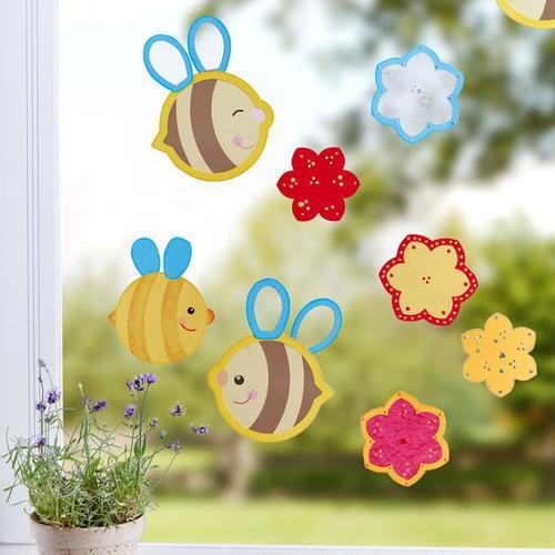 JAKO-O Fensterbild Biene, bunt