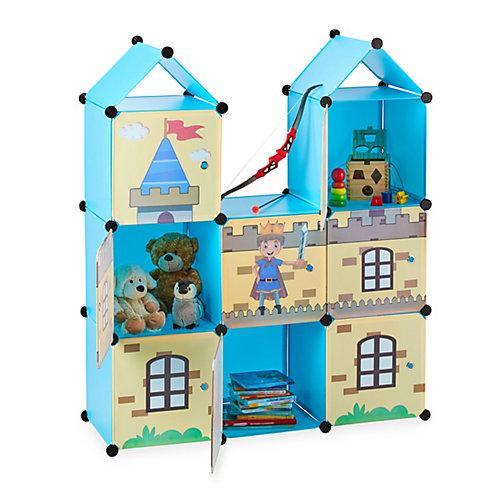 Steckregal Kinderzimmer als Ritterburg mehrfarbig