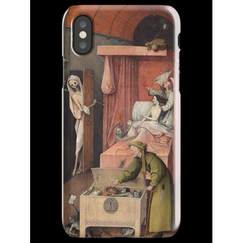 Hieronymus Bosch - Hieronymus Bosch - Death And The Miser. 1485 iPhone X Snap Case