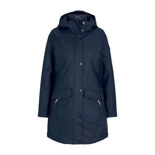 TOM TAILOR Damen leichte beschichtete Regenjacke, blau, Gr.M