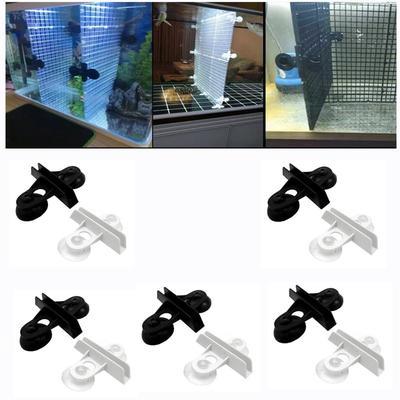 Pince de séparation pour Aquarium, 10 pièces, diviseur pour Aquarium, ventouse, Clip d'isolation,
