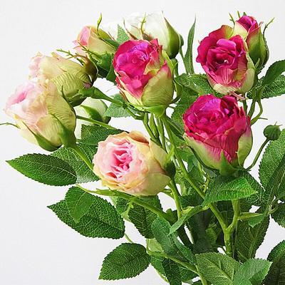 Roses artificielles en soie, 4 b...