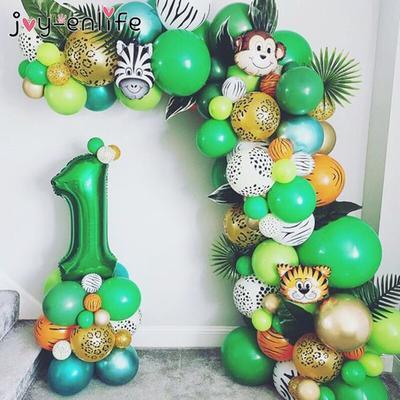 Jungle Safari fête ballon arc Ki...
