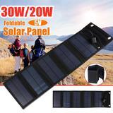 Panneau solaire pliable USB 30W,...