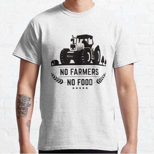 No Farmer No Food - We Support Our Farmers - Farmer Christmas Classic T-Shirt