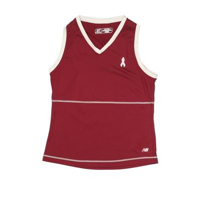 New Balance Active Tank Top: Burgundy Solid Sporting & Activewear - Size Small