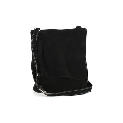 Pulicati - Pulicati Leather Crossbody Bag: Black Solid Bags
