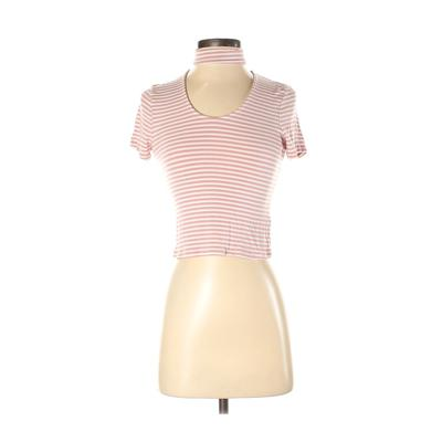 One Clothing - One Clothing Short Sleeve T-Shirt: Pink Print Tops - Size Small