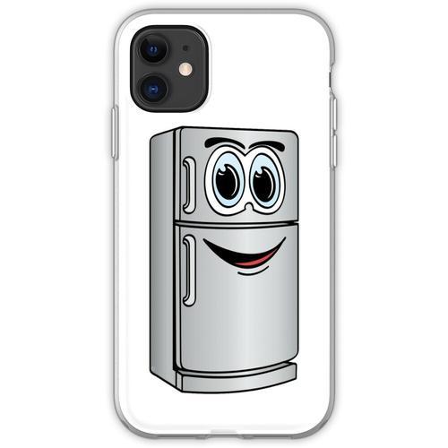 Edelstahl-Kühlschrank-Cartoon Flexible Hülle für iPhone 11