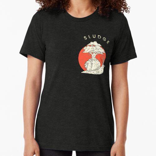 Schlammschnecke mit Baum auf Hausgrunge Design Vintage T-Shirt