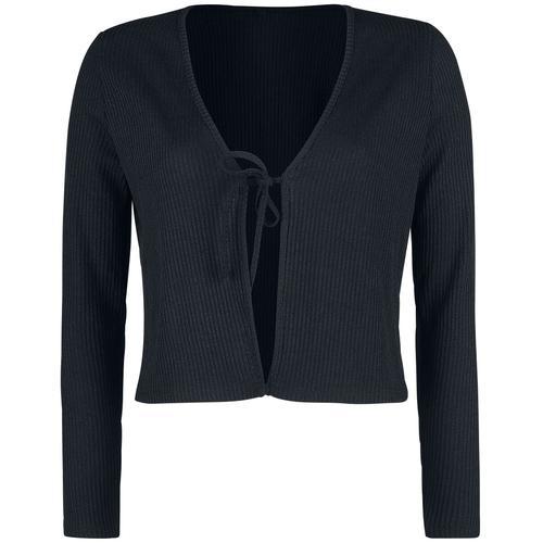 Forplay Front Lace Cardigan Damen-Cardigan - schwarz