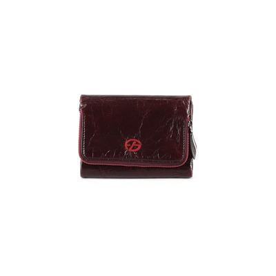Francesco Biasia Leather Wallet: Burgundy Solid Bags