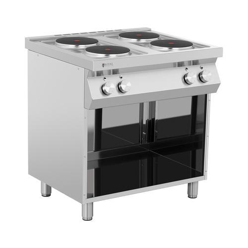 Royal Catering Elektroherd Gastro - 10.400 W - 4 Platten - Unterschrank RC-EC4OC