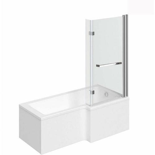 Home Deluxe - Badewanne inkl. Duschwand Elara (links) | Wanne, Duschwanne