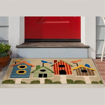 Birdhouses Rectangle Mat Multi Bright, 36 x 24, Multi Bright