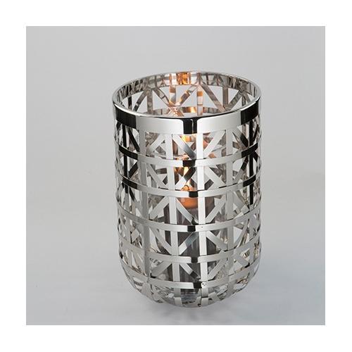 Fink Windlicht JORIS, aus Edelstahl silberfarben Kerzenhalter Kerzen Laternen Wohnaccessoires